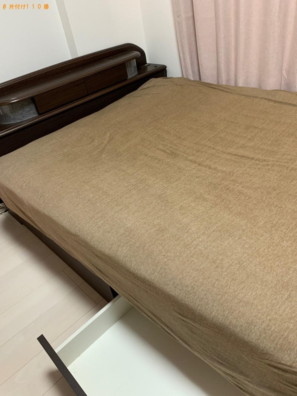 【佐賀市】ダブルベッド(マットレス付)の回収・処分ご依頼