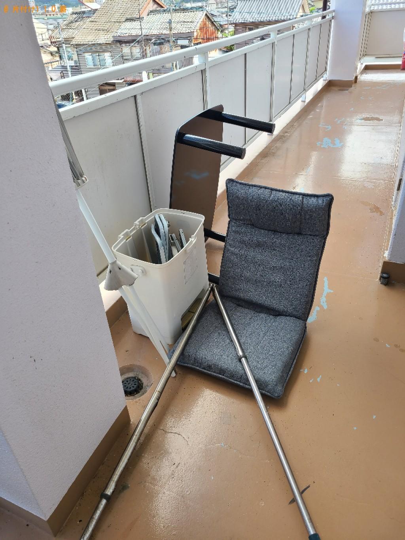 【佐賀市】ちゃぶ台、物干し竿、三脚、ゴミバケツ等の回収・処分
