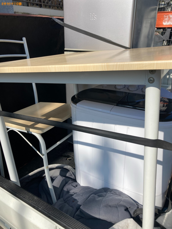 洗濯機、テーブル、マットレス付きシングルベッド等の回収・処分